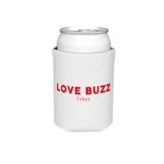 LOVEBUZZ logo RED Koozie