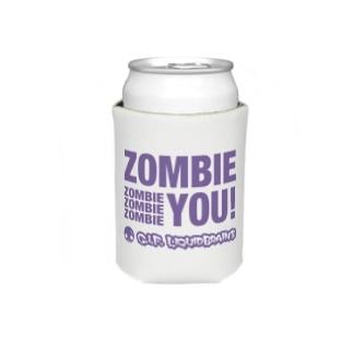 Zombie You!(purple print) Koozies