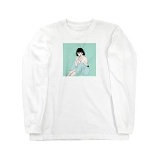 歯磨きするイケてる彼女 Long sleeve T-shirts