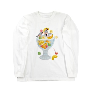 みつ豆桜文鳥 Long sleeve T-shirts