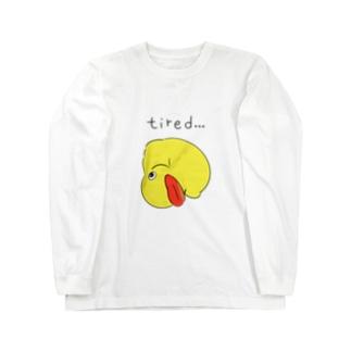 アヒルのおもちゃ Long sleeve T-shirts