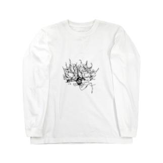 Agave titanota(チタノタ) ボタニカルアート Long sleeve T-shirts