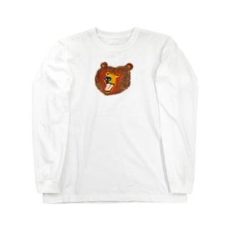 渾身のクマさん Long sleeve T-shirts