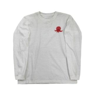 陶器絵タコさん Long Sleeve T-Shirt