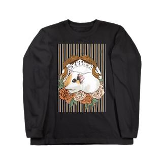 レジメンタルストライプ×モルモット ロングスリーブTシャツ
