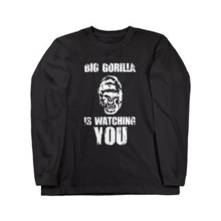 BIG GORILLA IS WATCHING YOU(白字) ロングスリーブTシャツ