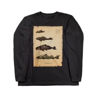 魚類画帳(淡水魚) ロングスリーブTシャツ