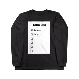 ToDoList ロングスリーブTシャツ