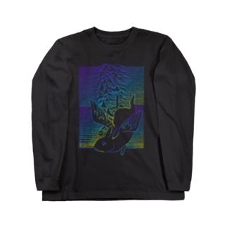 天使うさぎの波 ロングスリーブTシャツ