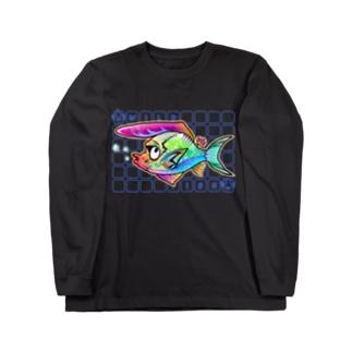 ワイルド系フグ ロングスリーブTシャツ