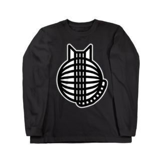 猫の丸い背中 ロングスリーブTシャツ ロングスリーブTシャツ