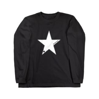 星柄お尻マーク ロングスリーブTシャツ