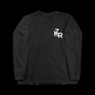 柘榴(ざくろ)のZKR Tシャツ(ロゴ白ver.)ロングスリーブTシャツ