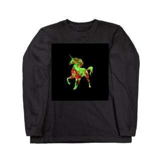 ユニコーンブラック ロングスリーブTシャツ