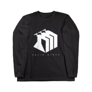 Adlib-Block -white- ロングスリーブTシャツ