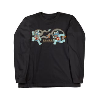 風魚雷魚図 ロングスリーブTシャツ