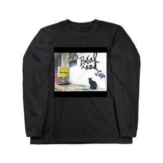看板ネコ ロングスリーブTシャツ