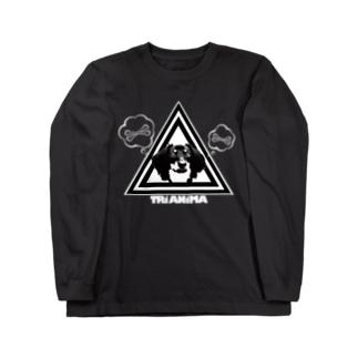 TRI ANIMA【Dog01】Black ロングスリーブTシャツ