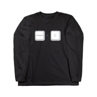 command+c コピー ロングスリーブTシャツ
