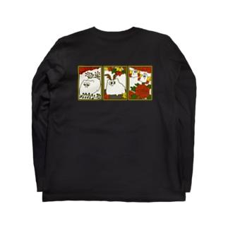 猪どっぐ鹿どっぐ蝶どっぐ Long sleeve T-shirts