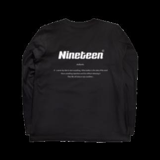 Nineteen©︎のBasic logo type B ver.  Long sleeve T-shirts