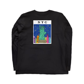 NY ロゴブルー Long sleeve T-shirts
