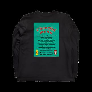 ___faceのCheerful menu Long sleeve T-shirts