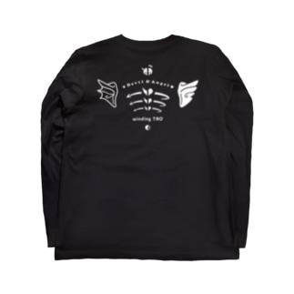 天使と悪魔の肩甲骨 Long sleeve T-shirts