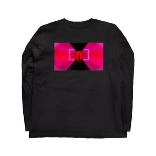 ネオン3 バックプリント Long sleeve T-shirts