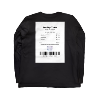 LordLy time receipt Long sleeve T-shirts