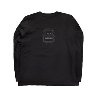 はりちぇるくん「黒」バックプリントVer Long sleeve T-shirts