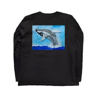 白鯨 黒ロンT Long sleeve T-shirts