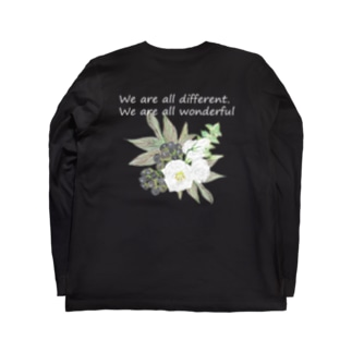 トルコキキョウ wonderful ver. 濃い色 Long sleeve T-shirts
