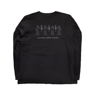 Laccrosse makes friends(白) Long sleeve T-shirts