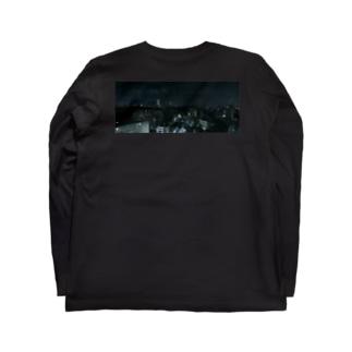 TENRIVER_FILM 応援グッズ 夜の街 背面プリント 前面ロゴ Long sleeve T-shirts