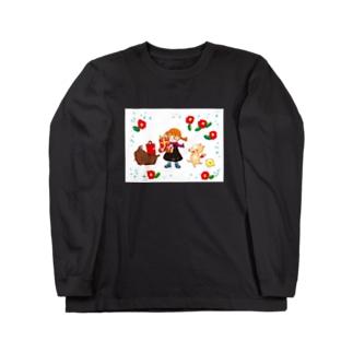 モップ犬こと、コモンドール Long sleeve T-shirts