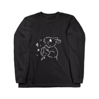 うさぎむすこ(白1) Long sleeve T-shirts