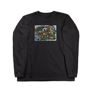 ゾウの散歩 Long sleeve T-shirts