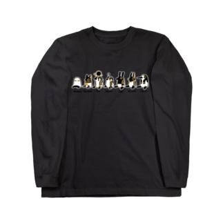 とーとつにエジプト神 お座り7柱 Long sleeve T-shirts