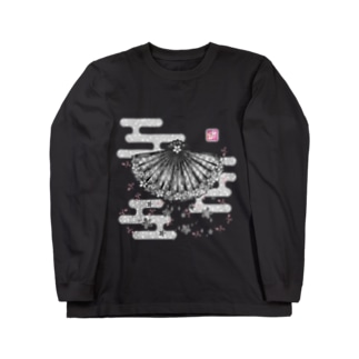 「舞庭」Series * 矢絣 monougi❀ Long sleeve T-shirts
