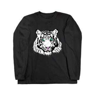 ホワイトタイガー Long sleeve T-shirts