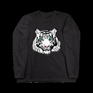 KaNaN〜パンダのホワイトタイガー Long sleeve T-shirts