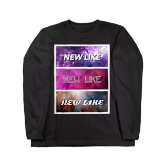 NEW LIKE ロゴ[サンレンサンレン] Long sleeve T-shirts