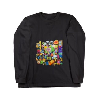 グシャグシャの部屋 Long sleeve T-shirts