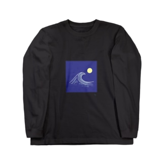 Night time wave Long sleeve T-shirts