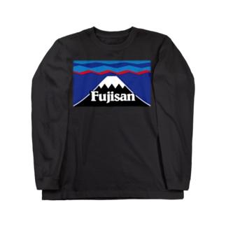 マウント富士 山頂平雪帽子 Long sleeve T-shirts