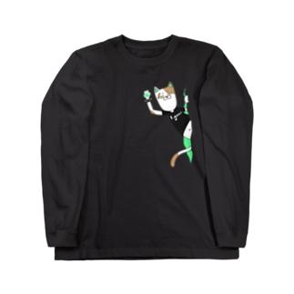 パンクキャット【アイガス】 Long sleeve T-shirts