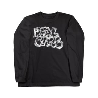 REALSTYLE 白文字 Long sleeve T-shirts