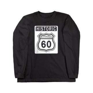 ルート66風 還暦アニバーサリー白 2008モデルリメイク 2018 Long sleeve T-shirts