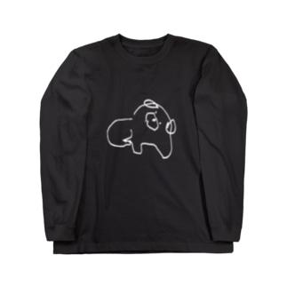 しろいいぬ Long sleeve T-shirts